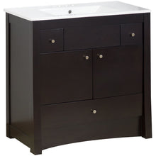 "Load image into Gallery viewer, American Imaginations Elite 35.5"" Single Sink Vanity Set - Vanity Connection"