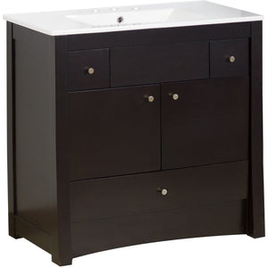 "American Imaginations Elite 35.5"" Single Sink Vanity Set - Vanity Connection"