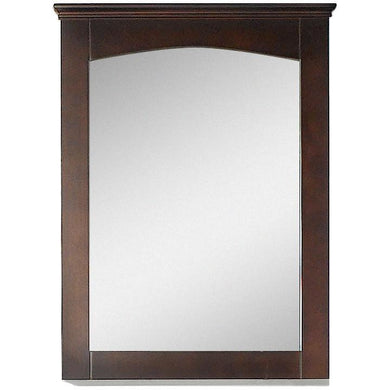 "American Imaginations Shaker 24"" Wood Mirror Walnut AI-17429 - Vanity Connection"