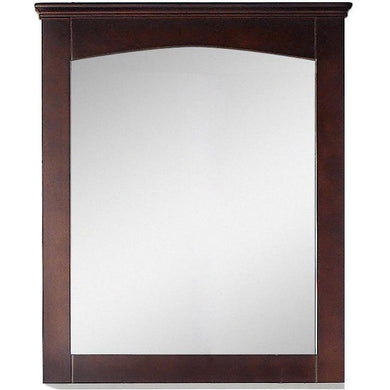 "American Imaginations Shaker 30"" Wood Mirror Walnut AI-17430 - Vanity Connection"