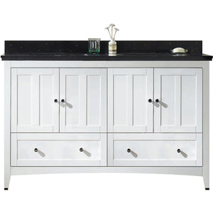 "American Imaginations Shaker 59"" Double Sink Vanity Set - Vanity Connection"