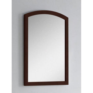 "American Imaginations Bow 21.65""Wood Mirror Coffee AI-18195 - Vanity Connection"