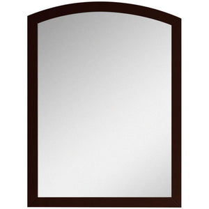 "American Imaginations Bow 23.62"" Wood Mirror Coffee AI-18196 - Vanity Connection"