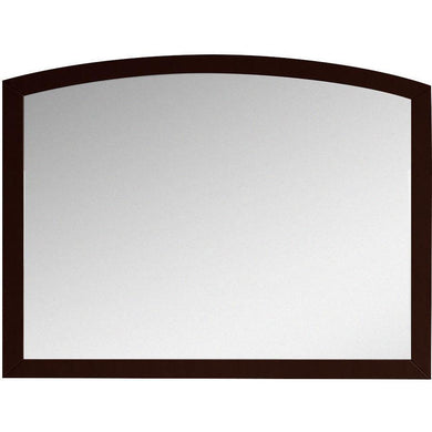 "American Imaginations Bow 23.62"" Wood Mirror Coffee AI-18197 - Vanity Connection"