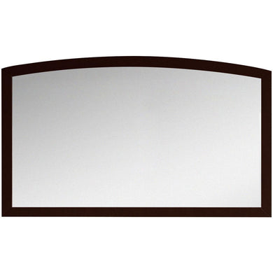 "American Imaginations Bow 47.24"" Wood Mirror Coffee AI-18198 - Vanity Connection"