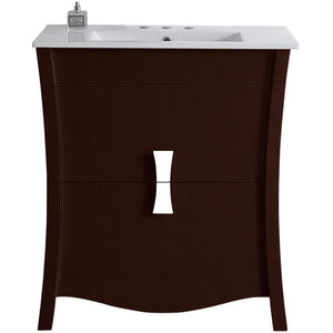 "American Imaginations Bow 30"" Single Sink Vanity Set - Vanity Connection"