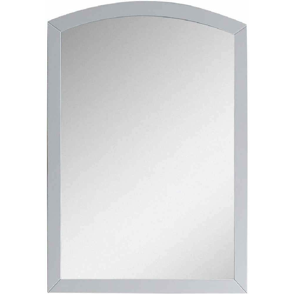 "American Imaginations Bow 21.65"" Wood Mirror White AI-18264 - Vanity Connection"