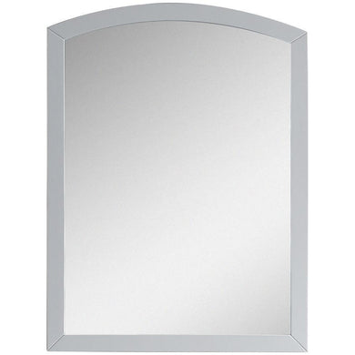 "American Imaginations Bow 23.62"" Wood Mirror White AI-18265 - Vanity Connection"