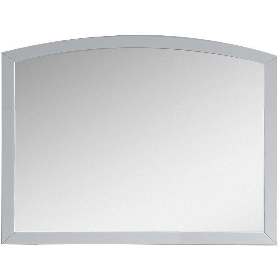 "American Imaginations Bow 35.43"" Wood Mirror White AI-18266 - Vanity Connection"