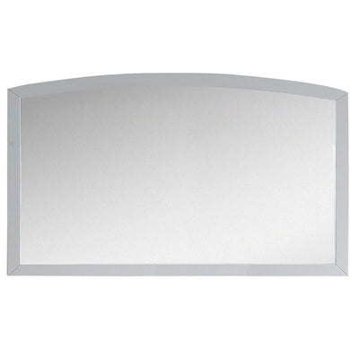 "American Imaginations Bow 47.24"" Wood Mirror White AI-18267 - Vanity Connection"