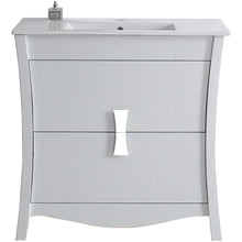 "Load image into Gallery viewer, American Imaginations Bow 35.5"" Single Sink Vanity Set - Vanity Connection"