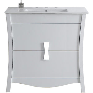 "American Imaginations Bow 35.5"" Single Sink Vanity Set - Vanity Connection"