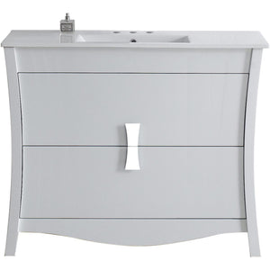 "American Imaginations Bow 48"" Single Sink Vanity Set - Vanity Connection"