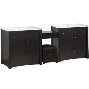 "American Imaginations Elite 92.25"" Double Sink Vanity Set - Vanity Connection"