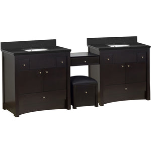 "American Imaginations Elite 93.25"" Double Sink Vanity Set - Vanity Connection"