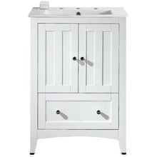 "Load image into Gallery viewer, American Imaginations Shaker 23.5"" Single Sink Vanity Set White AI-19353 - Vanity Connection"