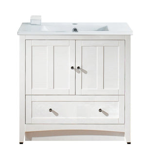"American Imaginations Shaker 35.5"" Single Sink Vanity Set - Vanity Connection"