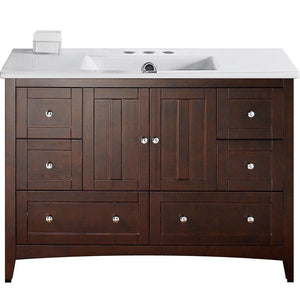 "American Imaginations Shaker 48"" Single Sink Vanity Set - Vanity Connection"
