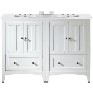"American Imaginations Shaker 48"" Double Sink Vanity Set - Vanity Connection"