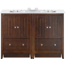 "Load image into Gallery viewer, American Imaginations Shaker 48"" Double Sink Vanity Set - Vanity Connection"