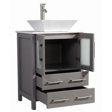 "Load image into Gallery viewer, Legion Furniture 24"" Solid Wood Sink Vanity with Mirror WA7824 - Vanity Connection"