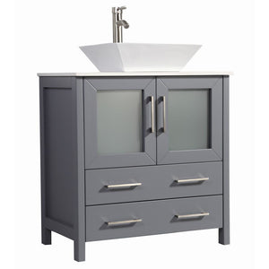 "Legion Furniture 30"" Solid Wood Sink Vanity with Mirror WA7830 - Vanity Connection"