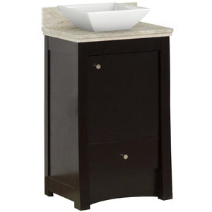 "American Imaginations Elite 19.75"" Single Sink Vanity Set Distressed Antique Walnut - Vanity Connection"