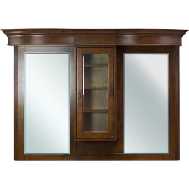 "American Imaginations Milano 62"" Wood Mirror Antique Cherry AI-48 - Vanity Connection"