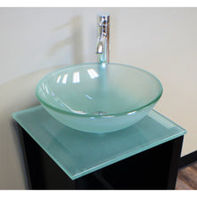 "Load image into Gallery viewer, Cambridge 18"" Wood Cabinet & Tempered Glass Top & Vessel Sink w/ Faucet 8137B-BN - Vanity Connection"