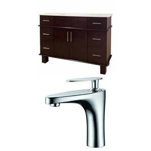 "American Imaginations Alum 48"" Single Sink Vanity Set - Vanity Connection"