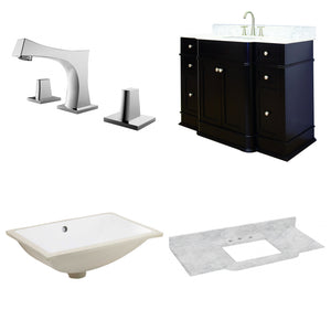 "American Imaginations Granicus 50"" Single Sink Vanity Set - Vanity Connection"