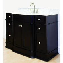 "Load image into Gallery viewer, American Imaginations Granicus 49.25"" Single Sink Vanity Set Dark Mahogany AI-8650 - Vanity Connection"