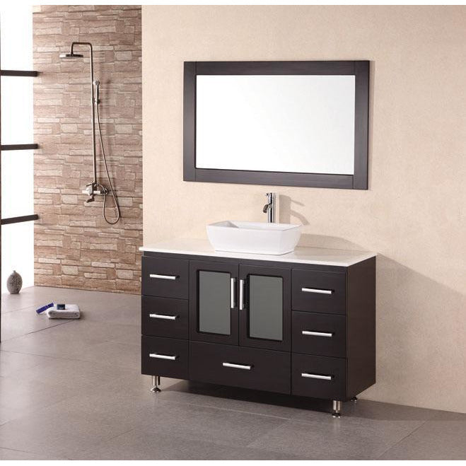 Design Element Stanton 48″ Single Sink Vanity Set in Espresso B48-VS - Vanity Connection