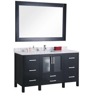 Design Element Stanton 60″ Single Sink Vanity Set in Espresso B60-DS - Vanity Connection