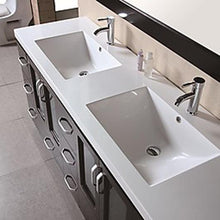 "Load image into Gallery viewer, Design Element Stanton 72"" Double Sink Vanity Set in Espresso B72-DS - Vanity Connection"