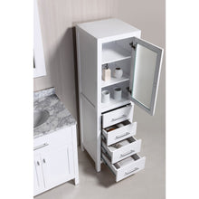 "Load image into Gallery viewer, Design Element London Stanmark 65"" Linen Cabinet in White CAB004-W - Vanity Connection"