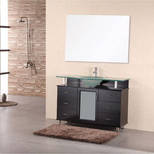 "Design Element Huntington 48"" Single Sink Vanity Set in Espresso DEC015C - Vanity Connection"