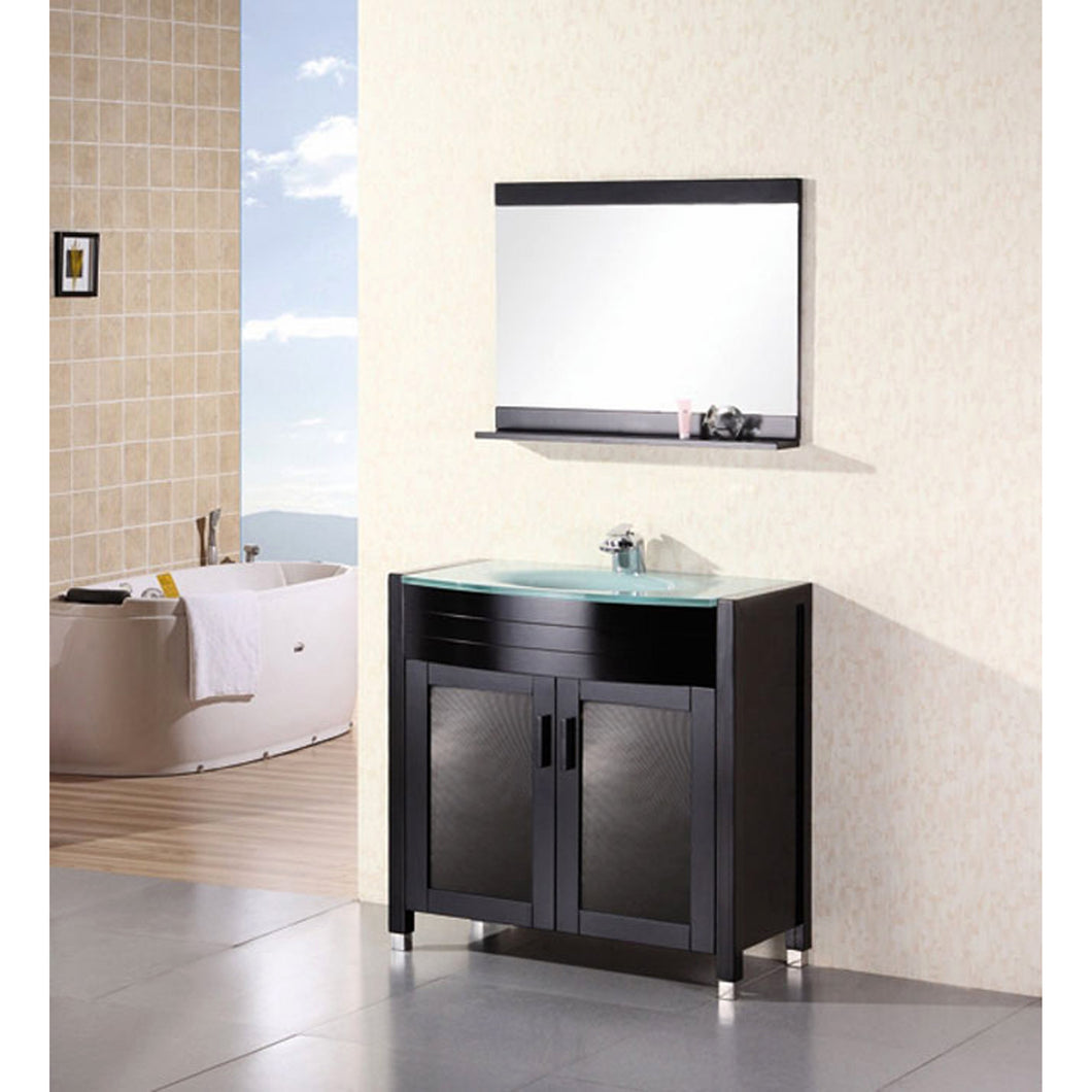 Design Element Waterfall 36″ Single Sink Vanity Set in Espresso DEC018 - Vanity Connection