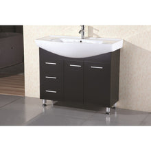 "Load image into Gallery viewer, Design Element Sierra 40"" Single Sink Vanity Set in Espresso DEC026 - Vanity Connection"