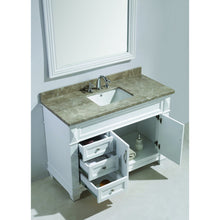 Load image into Gallery viewer, Design Element Hudson 48″ Vanity Set in White w/ Badal Gray Marble Top DEC059B-W-G - Vanity Connection