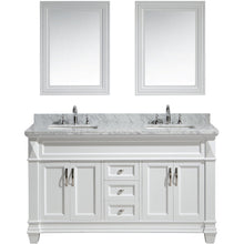 "Load image into Gallery viewer, Design Element Hudson 60"" Vanity Set w/ White Carrara Marble Countertop DEC059C-W-W - Vanity Connection"