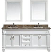 Load image into Gallery viewer, Design Element Hudson 72″ Double Sink Vanity Set in White with Marble Top DEC059D-W-W - Vanity Connection