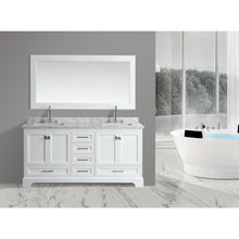 "Load image into Gallery viewer, Design Element Omega 72"" Double Sink Vanity in White DEC068B-W - Vanity Connection"