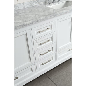 "Design Element Omega 72"" Double Sink Vanity in White DEC068B-W - Vanity Connection"