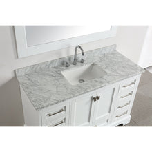 "Load image into Gallery viewer, Design Element Omega 54"" Single Sink Vanity in White DEC068D-W - Vanity Connection"