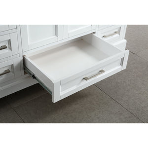 "Design Element Omega 54"" Single Sink Vanity in White DEC068D-W - Vanity Connection"