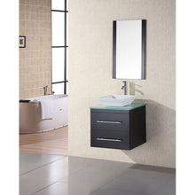 "Load image into Gallery viewer, Design Element Portland 24"" Single Sink - Wall Mount Vanity Set in Espresso w/ Glass Top DEC071C-G - Vanity Connection"