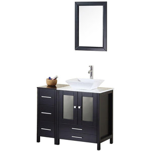 "Design Element Arlington 36"" Single Sink Vanity Set in Espresso DEC072A - Vanity Connection"