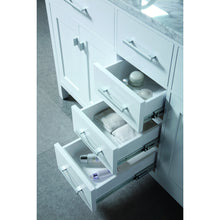 "Load image into Gallery viewer, Design Element London Stanmark 61"" Double Sink Vanity Set in White DEC076A-W - Vanity Connection"
