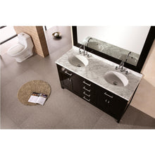 Load image into Gallery viewer, Design Element London Stanmark 61″ Double Sink Vanity Set in Espresso DEC076A - Vanity Connection